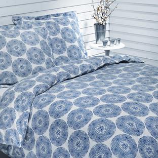 Housses de couette et taies d 39 oreiller coton bio bleu cristal - Housse de couette coton bio ...